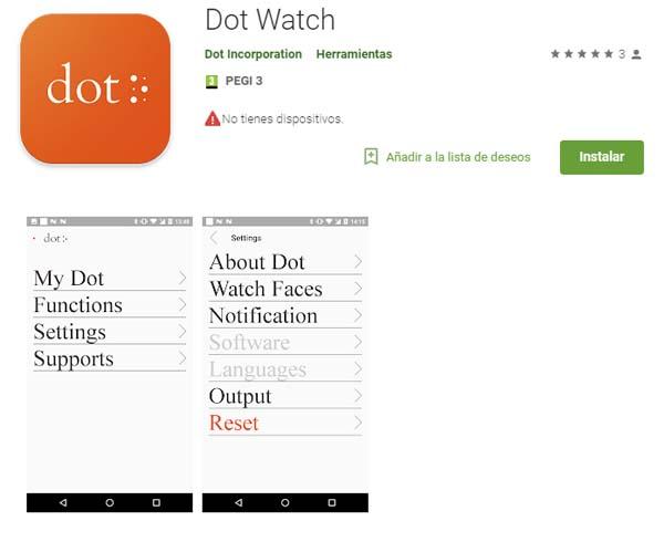 Dot Watch para Android