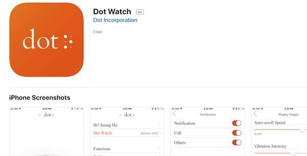 Dot Watch para IOS