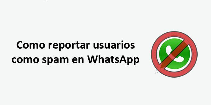 como reportar a un usuario como spam en whatsapp