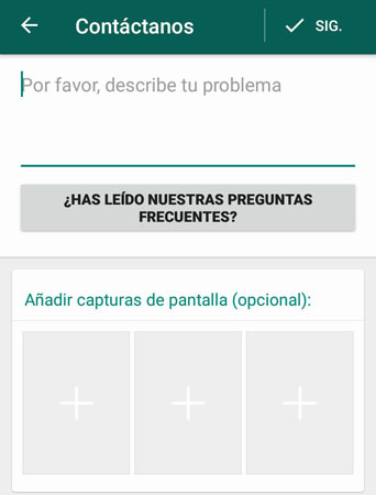 contactar con whatsapp con dispositivo android