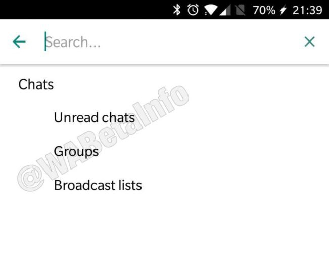 filtros de chats en whatsapp business